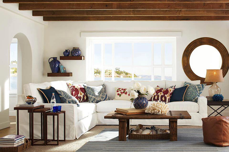 Sahil,kum,deniz, sahil stili ev dekorasyonunun ana temasını