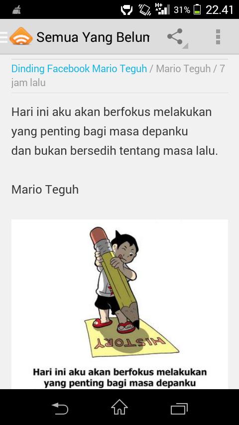 Aplikasi Buat Kamu Yang Suka Kata Motivasi Mario Teguh