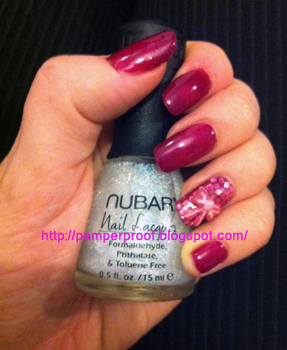 Pamper Proof: Notd - Nubar Gelicure - Maroon with Accent nail and 3d ...