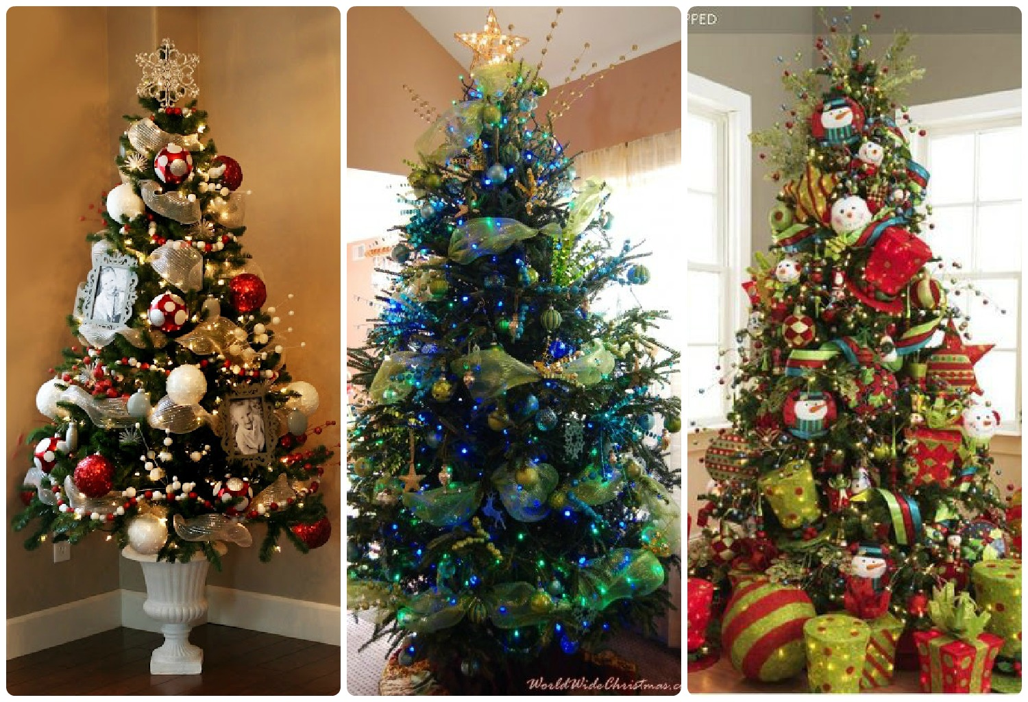 It 39 s just me oh christmas tree for Blue gold and white christmas tree