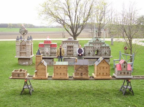 luxury birdhouses and bird mansions for pet birds