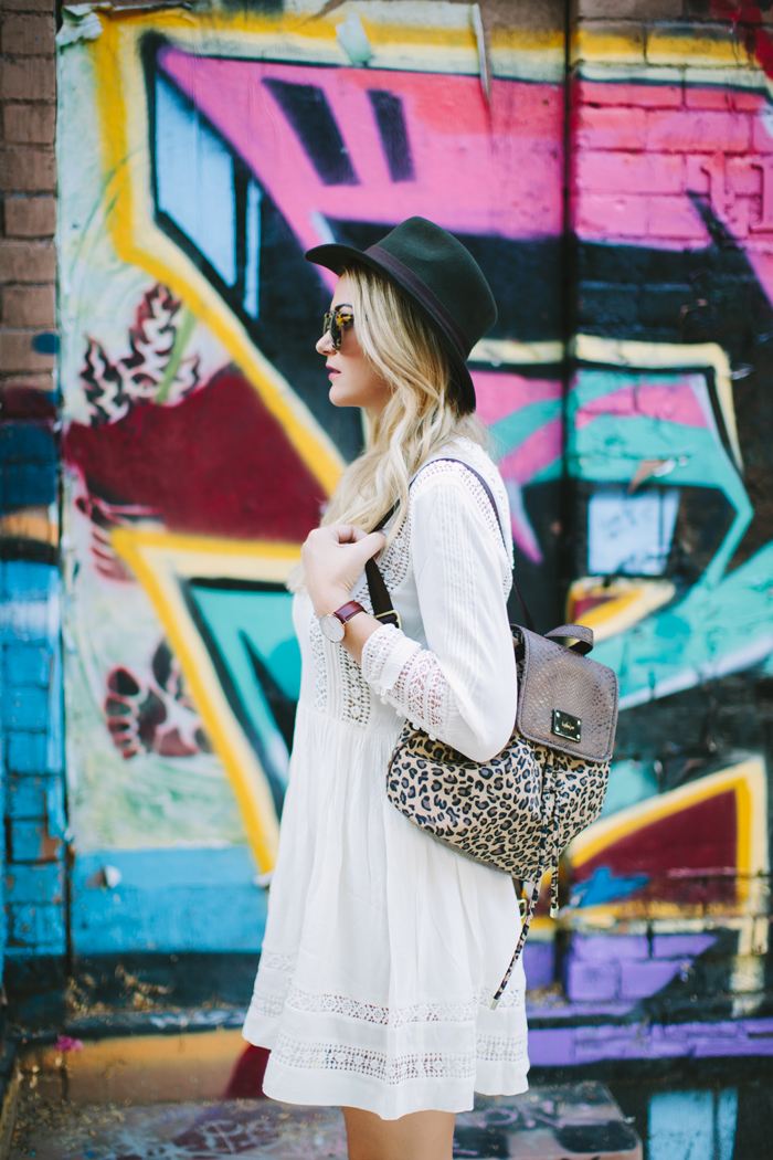 ASOS, Lace, White, Embroidered, Lace Insert, Skater, Paneled, Silk, Crepe, Dress, Kipling, Leopard, Always On, Collection, Animal Print, Backpack, Madewell, Biltmore, Felt, Ribbon, Brown, Hat, Fedora, Suede, Fringe, Sam Edelman, Louie, Booties, Daniel Wellington, Classic Bristol, Leather Strap, Watch, YSL, Berry, Lipstick, Illesteva, Leonard, Tortoise, Sunglasses, Ily Couture, Tri Layer, Gold, Layered, Necklace, Chavez for Charity, Beaded, Green, Bracelet Set, Desires by Mikolay, Green Turquoise, Grand Central, Vanderbilt Hall, #kiplingalwayson, Caitlin Lindquist, A Little Dash of Darling, Fashion Blog, Blogger, Personal Style, Street Style, Phoenix, Roosevelt Row, Scottsdale, Arizona, #asosloves,