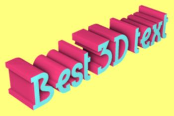 Picture to people the best online 3d text generator for 3d maker online