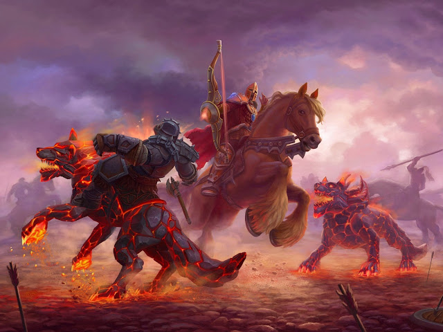 19090-Allods Online Wolf Battle Game HD Wallpaperz