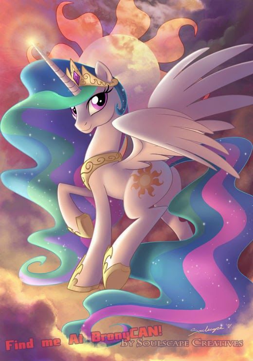 The diptych companion print for BronyCAN 2014 and for Nicole Oliver to sign