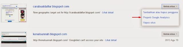 cara memasang google analitik di blog