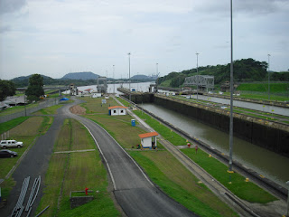 A shot from the Miraflores Locks at The Panama Canal