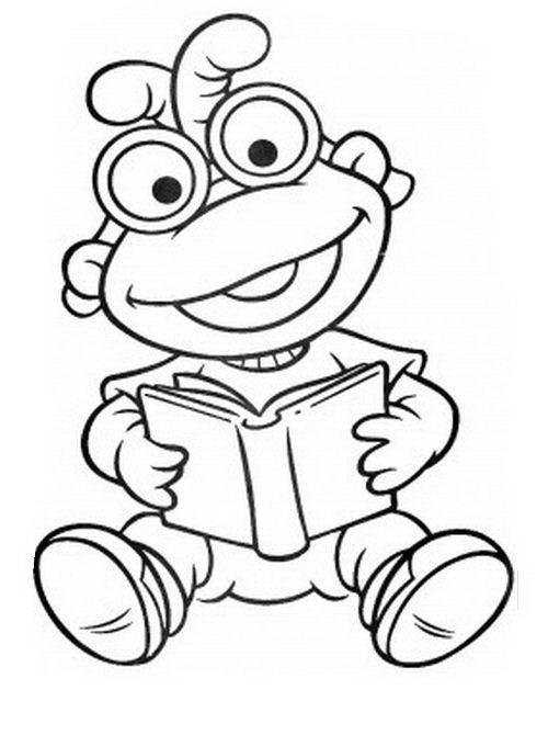 COLOREA TUS DIBUJOS: Scooter leyendo libro para colorear