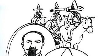 Ciclo Escolar: La Revolución Mexicana - Dibujos para Colorear