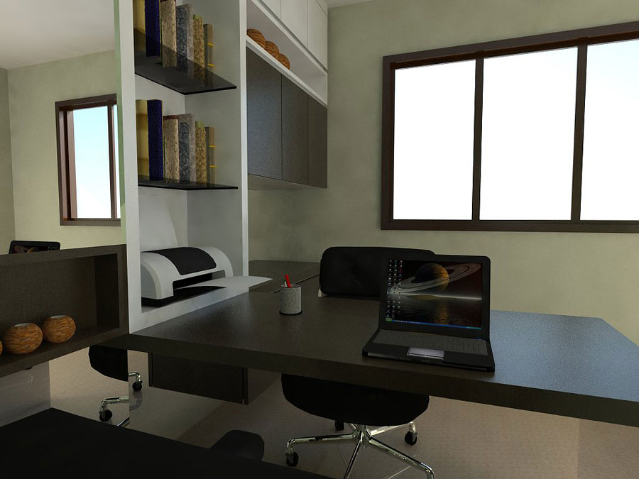 Home office study room designs pictures to pin on for Study interior design