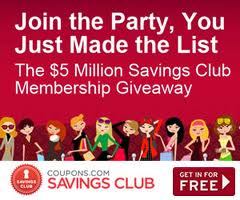 Coupons Saving Club save even more on Groceries, Shopping, Online, this is a 30 dollar value - GET THIS FOR FREE NOW!!!