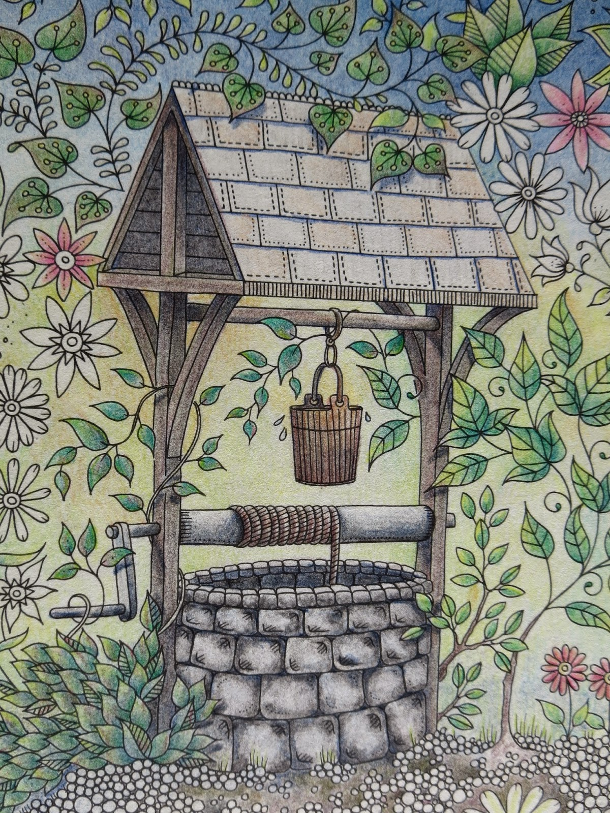 When It Comes To Colouring The Well In Johanna Basfords Amazing Book Secret Garden I Particularly Like Stones