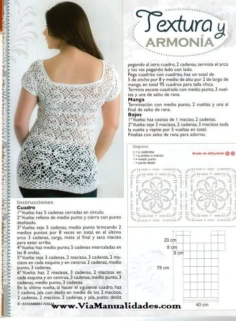 ❤ ✿ Mi Rincón del Tejido ✿ ❤: Blusa mujer tejida a crochet