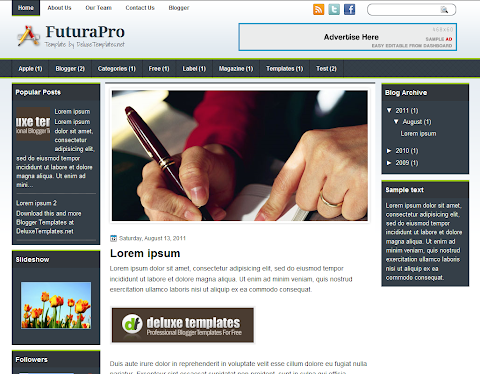 FuturaPro Blogger Theme