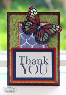 Stampin Up handmade card thank you