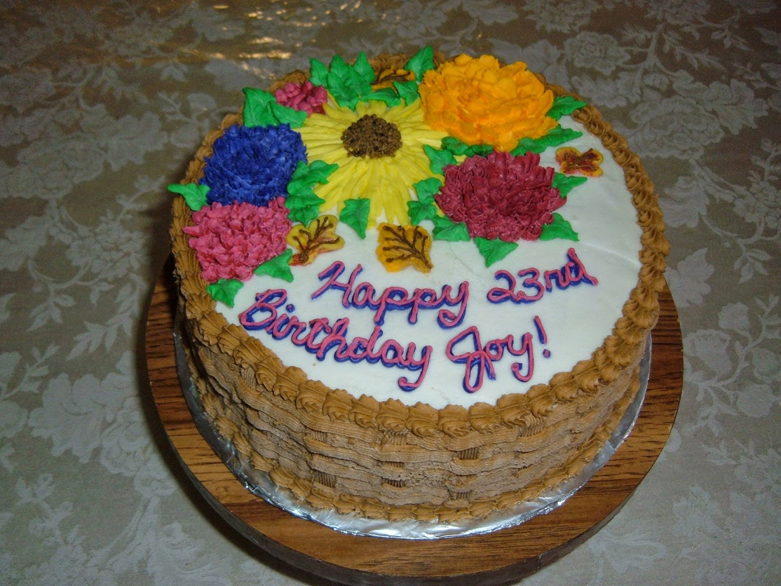 Cakes by ruth october 2009 joys 23rd birthday cake thecheapjerseys Images