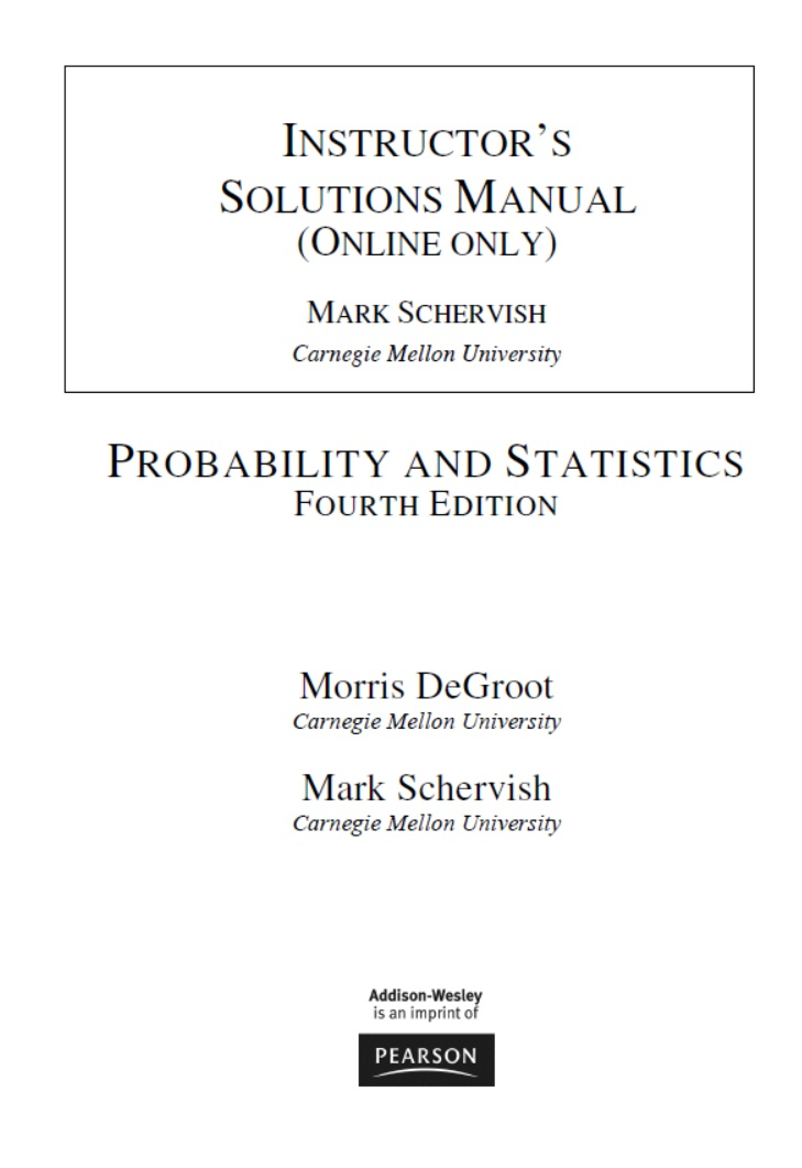 download instructor s solutions manual for probability and rh bumntrack co id Instructor Manual Template Instructor Training Manual