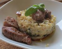 Frühsommerlicher Spargel-Risotto mit Steakstreifen