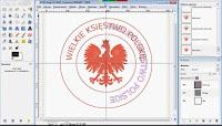 Efekt końcowy - pieczęć Wielkiego Księstwa Polskiego - zrzut