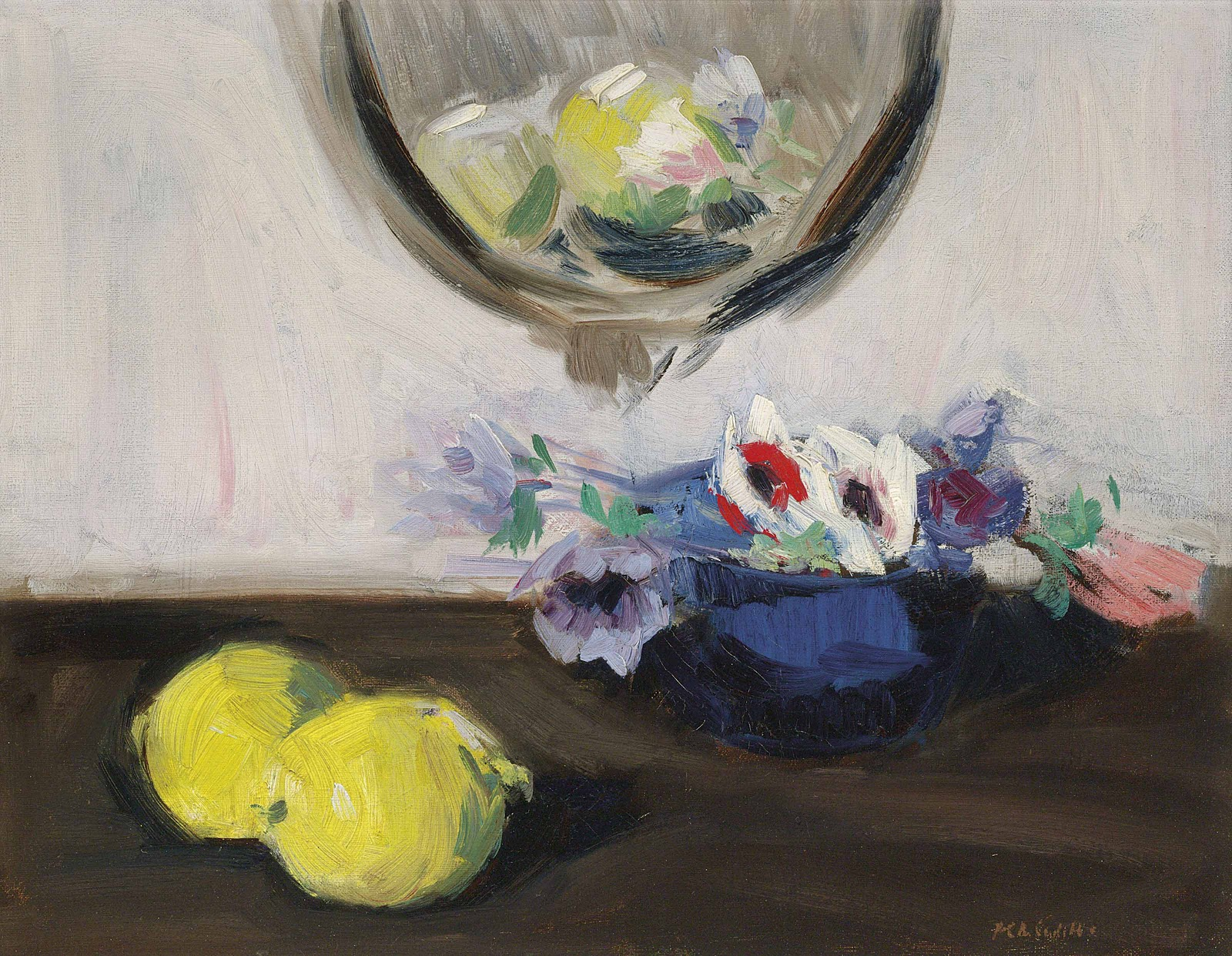 Francis Cadell Still life of anemones and lem Christies