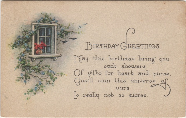 Pretty Picture Postcards: Birthday Greetings to Mrs ...