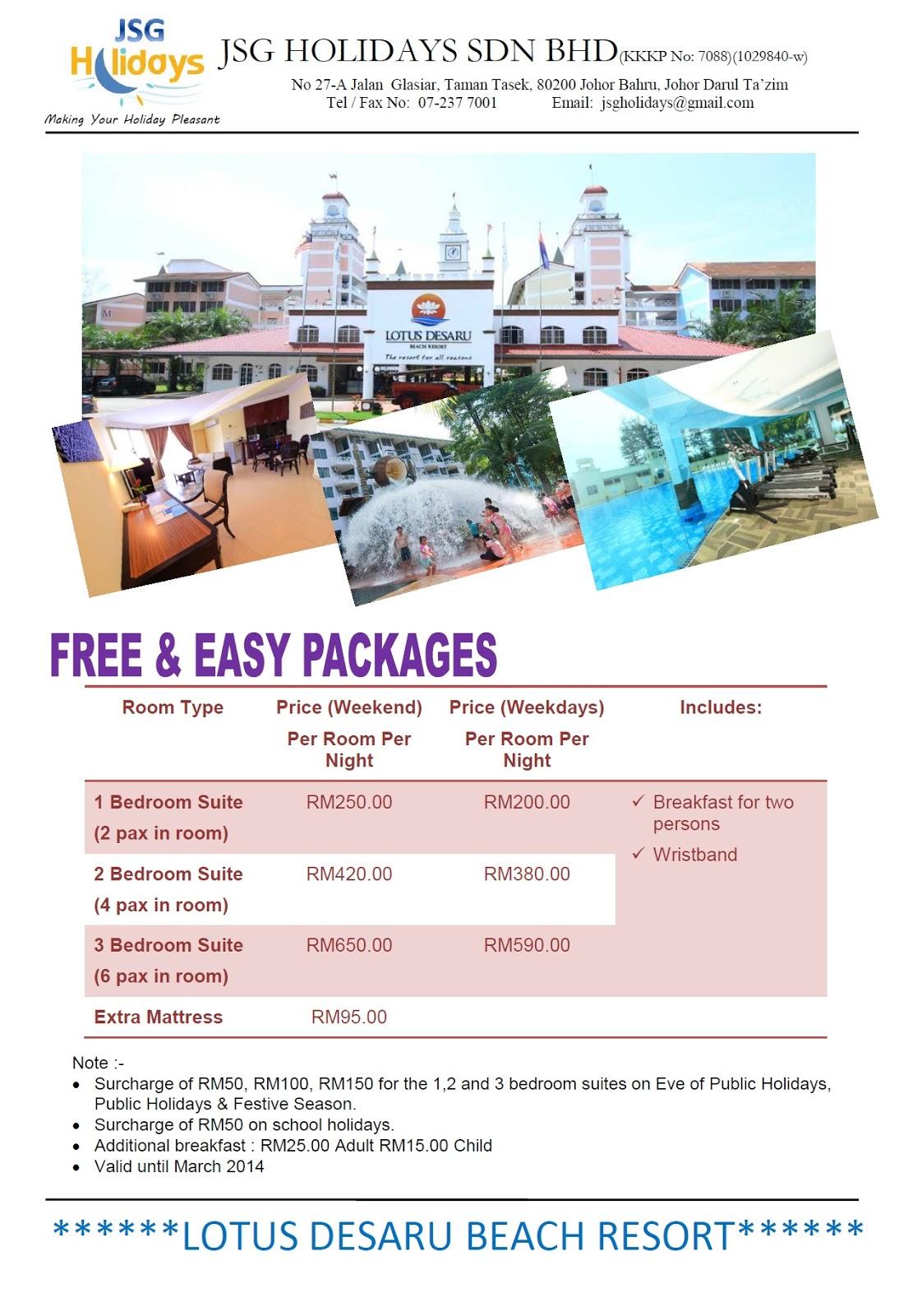 Lotus Desaru Beach Resort Package