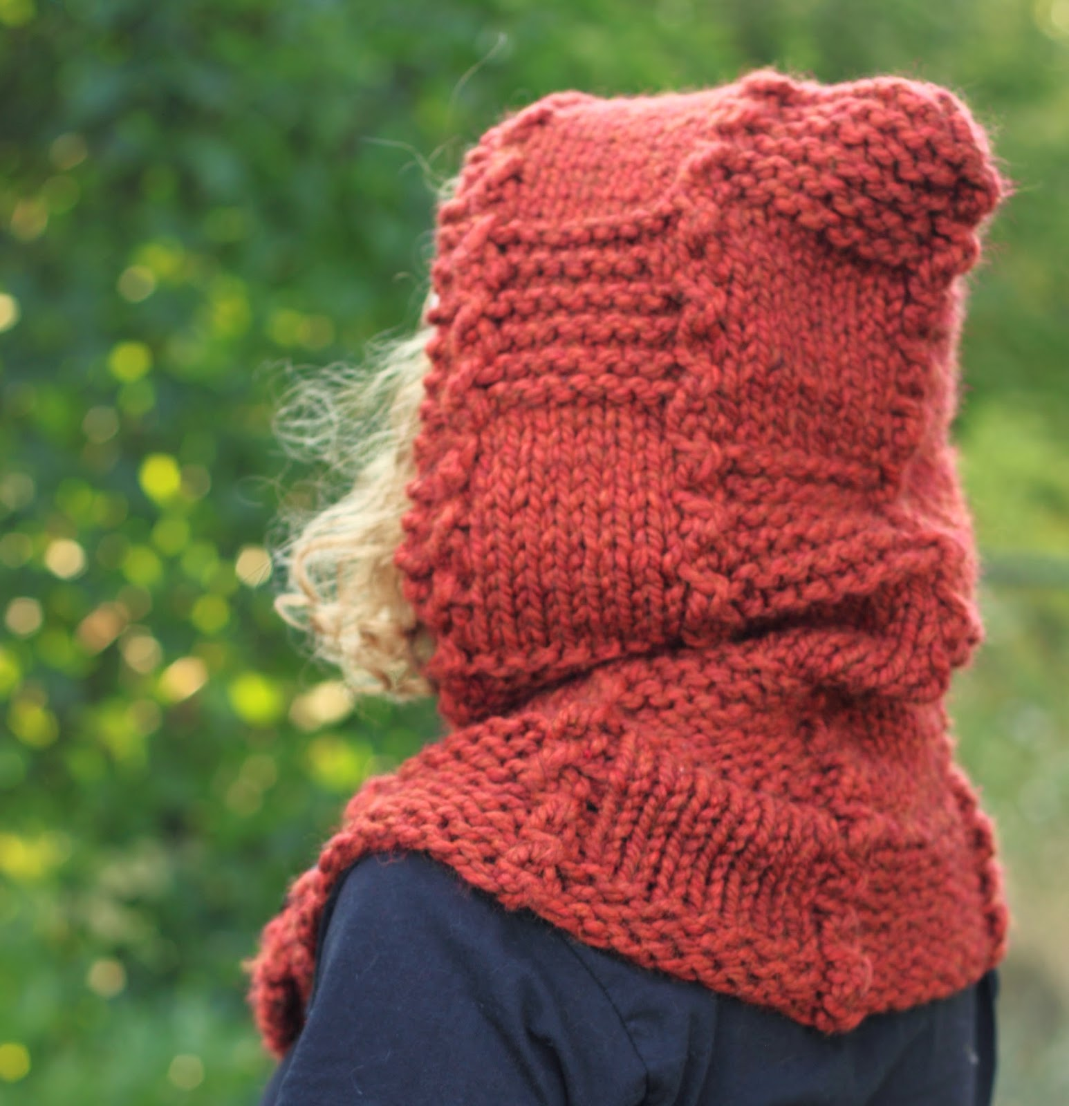 Hooded Cowl Knitting Pattern Free : Through the knitting lens fall woods quilt squares