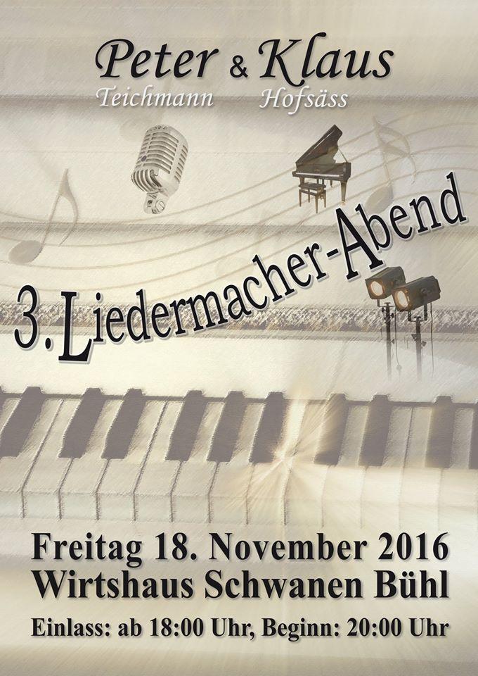 3. Liederabend Peter und Klaus 18.November