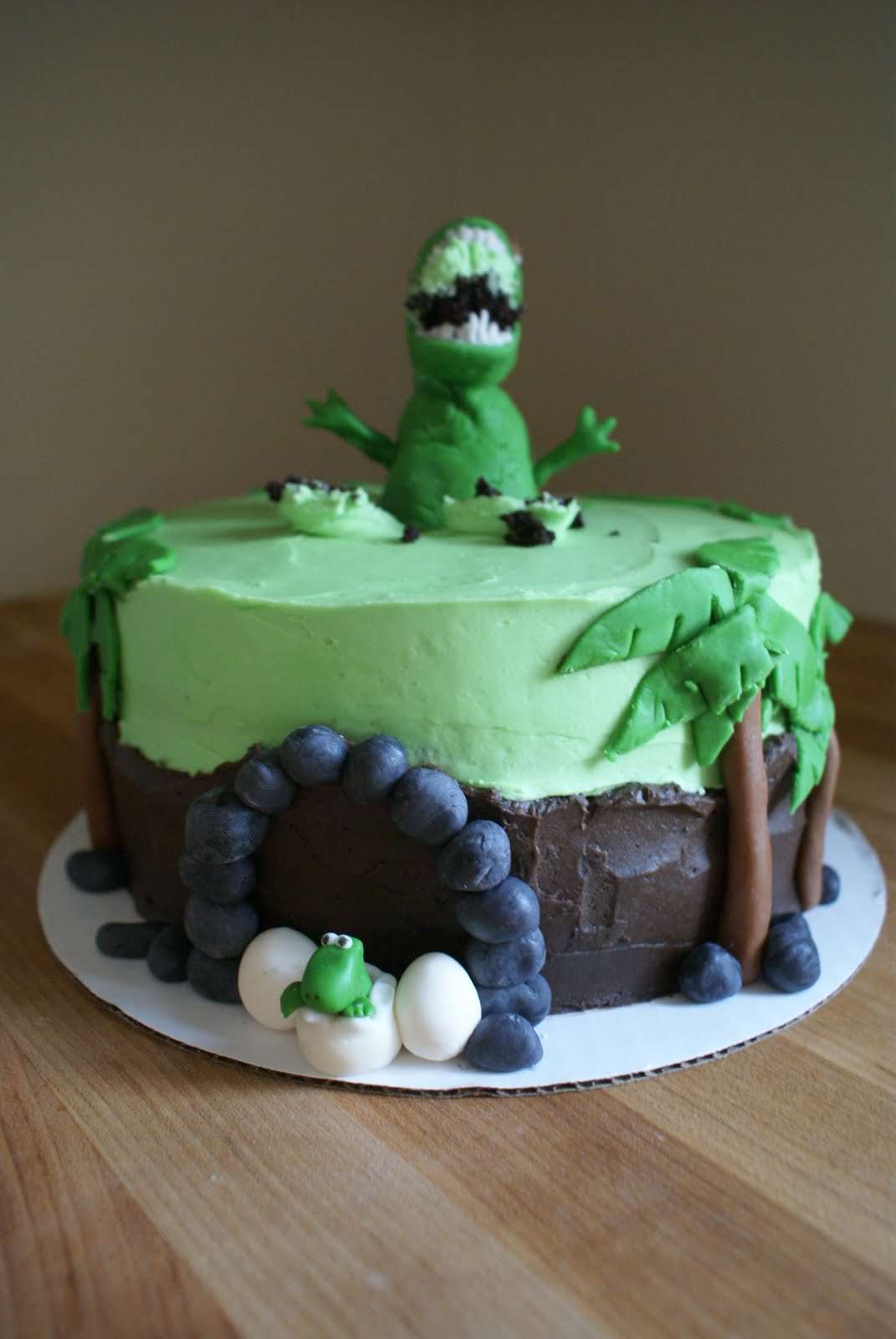 The Cooking of Joy Dinosaur Birthday Cake