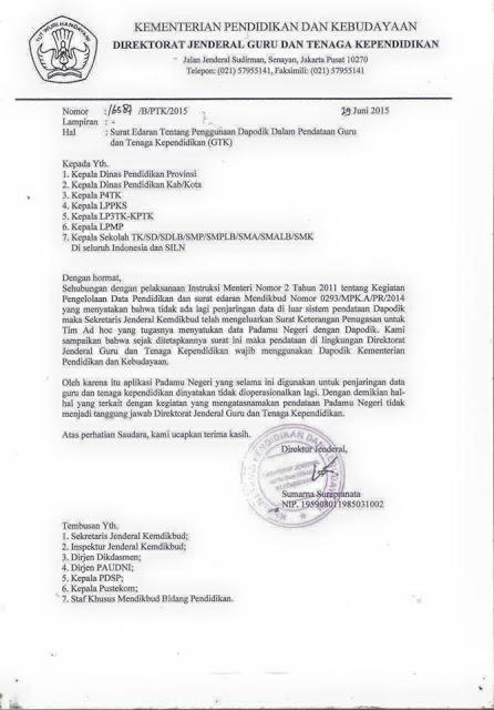 PADAMU NEGERI Tidak Dioperasikan Lagi Mulai 1 Juli 2015