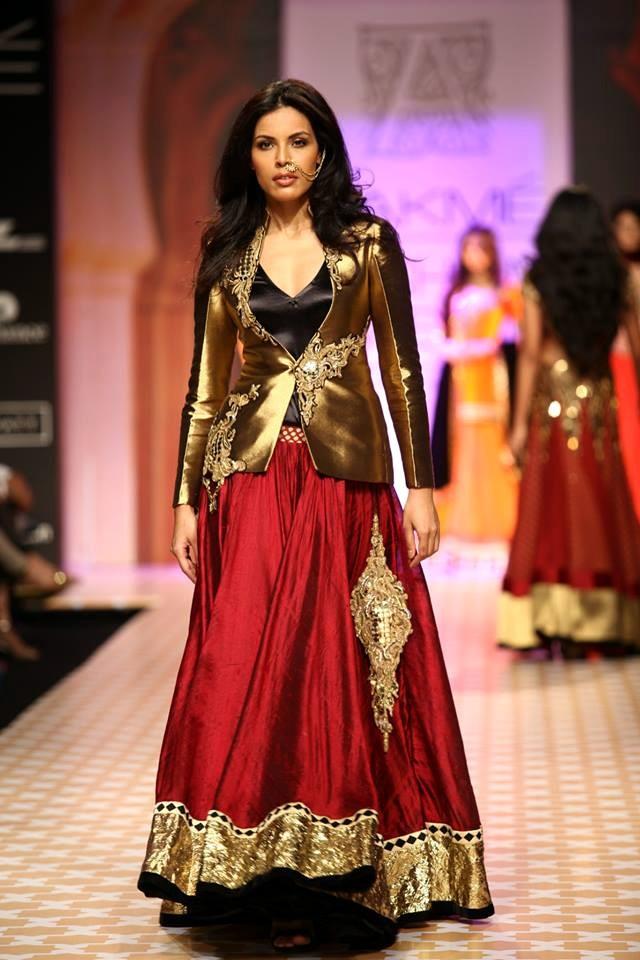 Designer Saree Lakme Fashion Week
