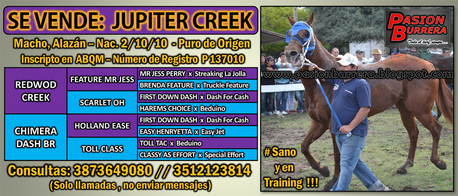 SE VENDE - JUPITER CREEK