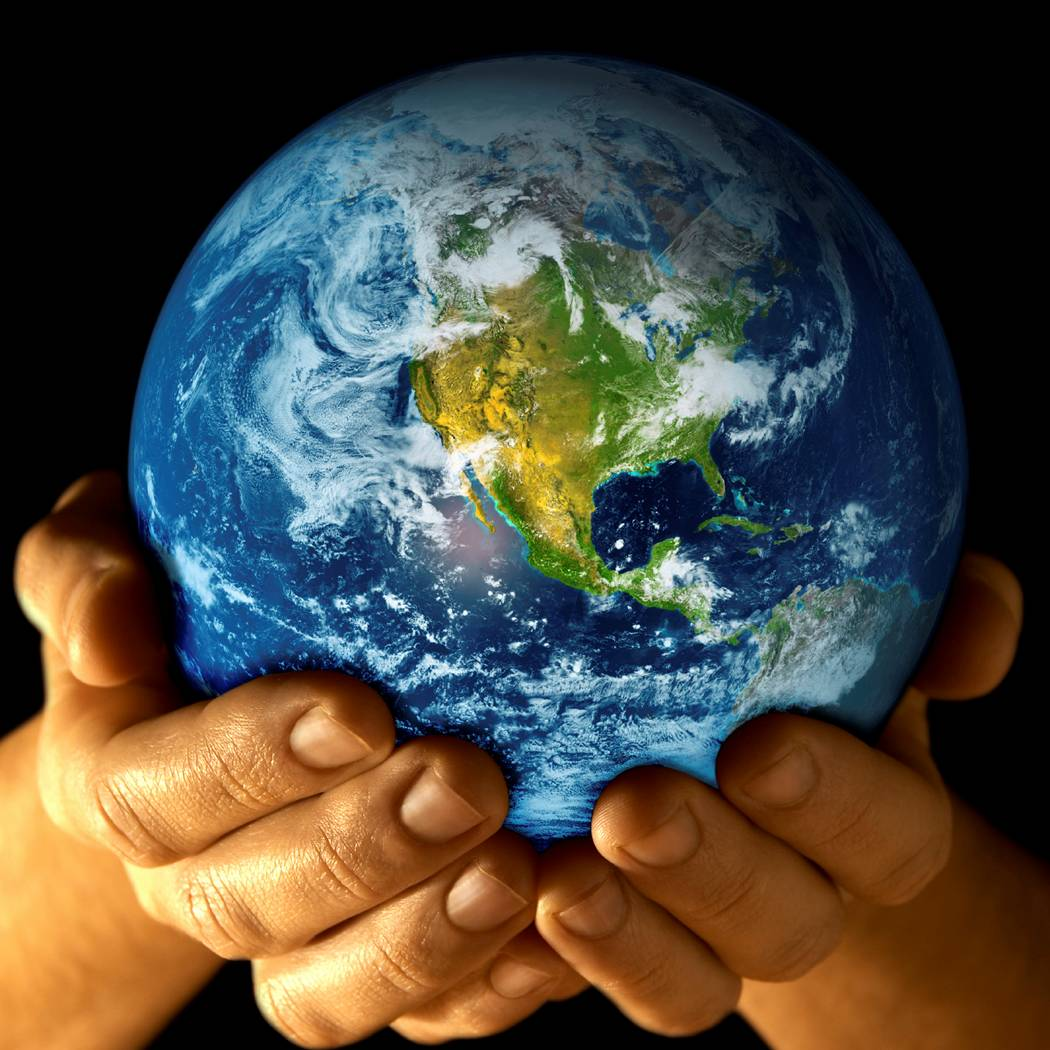 he has the whole world in his hand:
