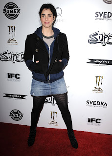 Sarah Silverman at the Super Premiere