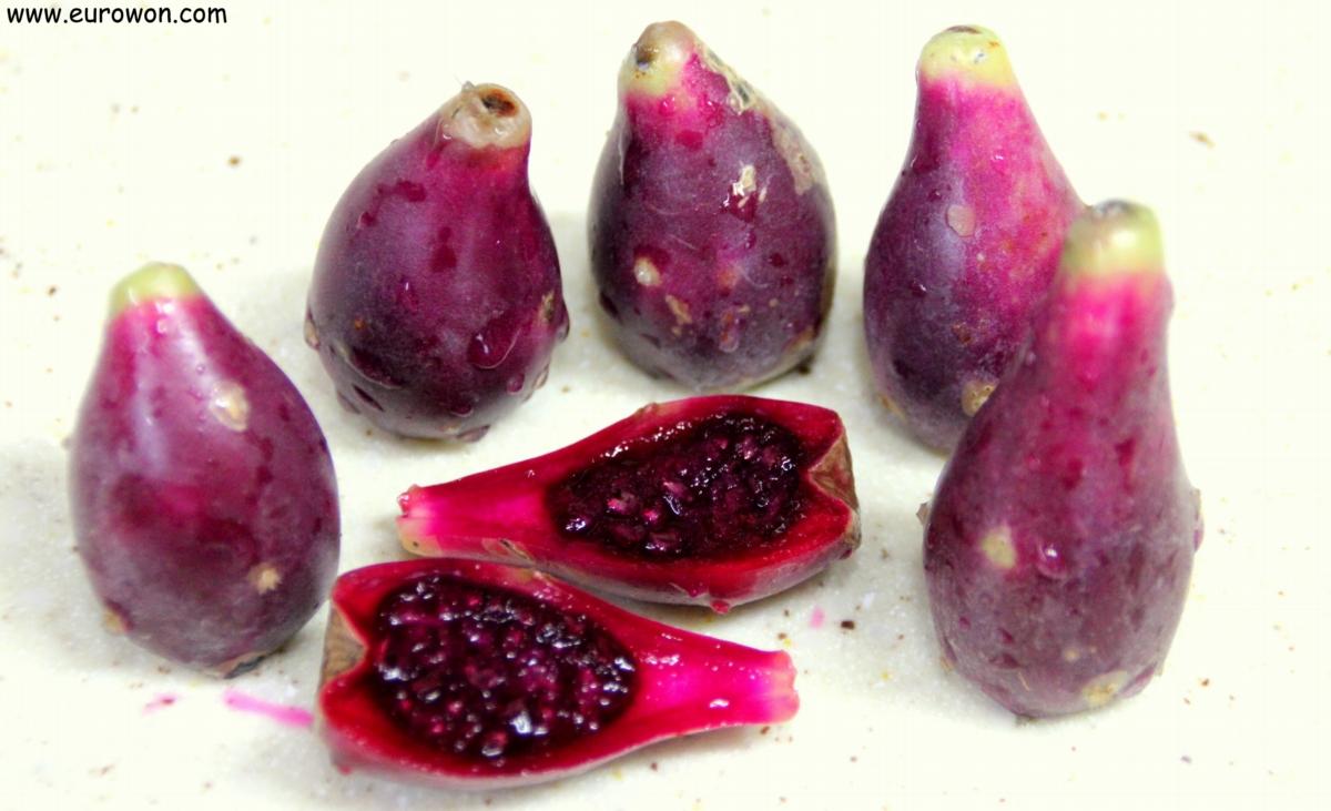 Frutos de un cactus coreano de la isla Jejudo
