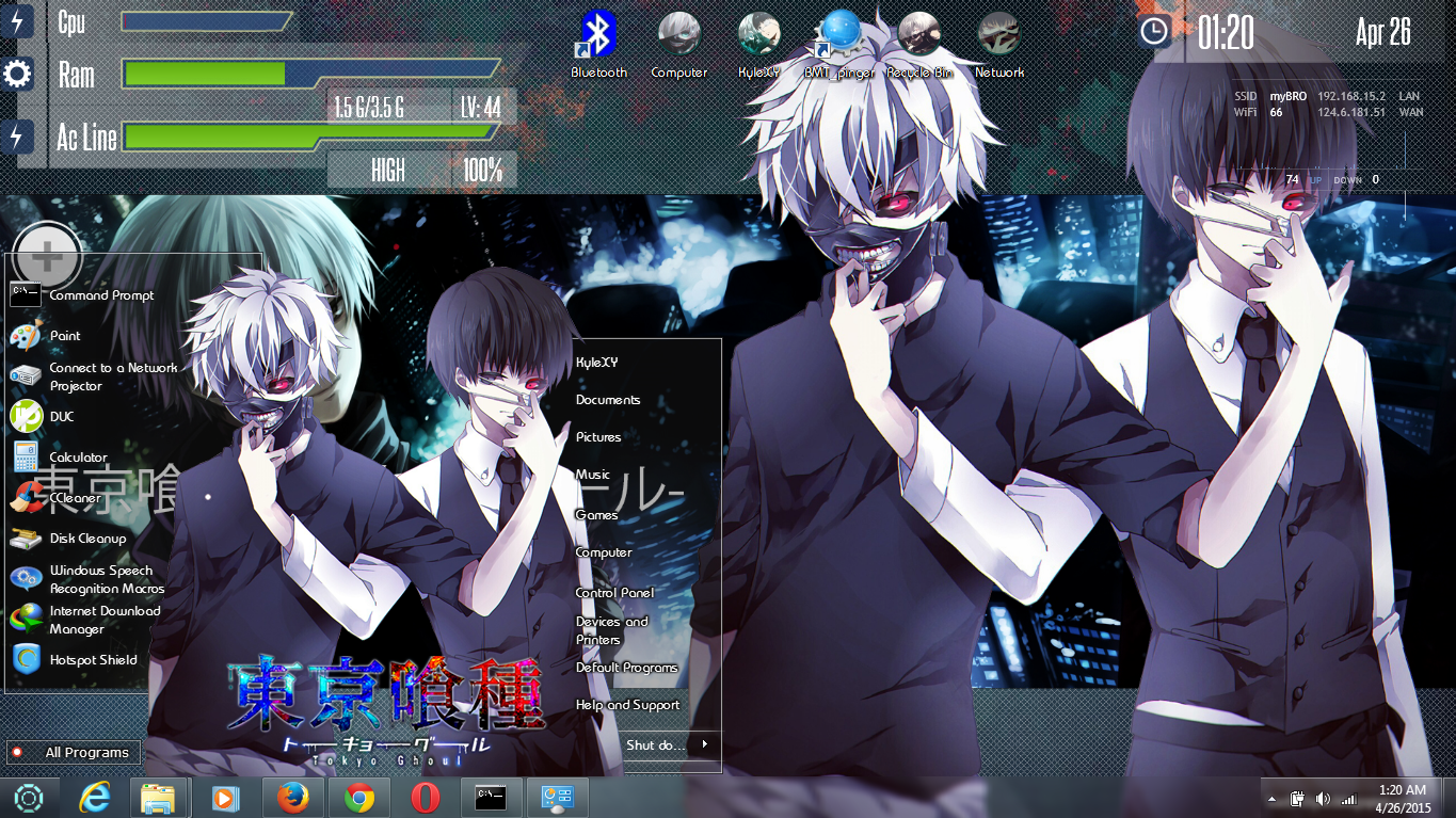 Google themes anime tokyo ghoul -  Tema Seven Tokyo Ghoul By Irsyada