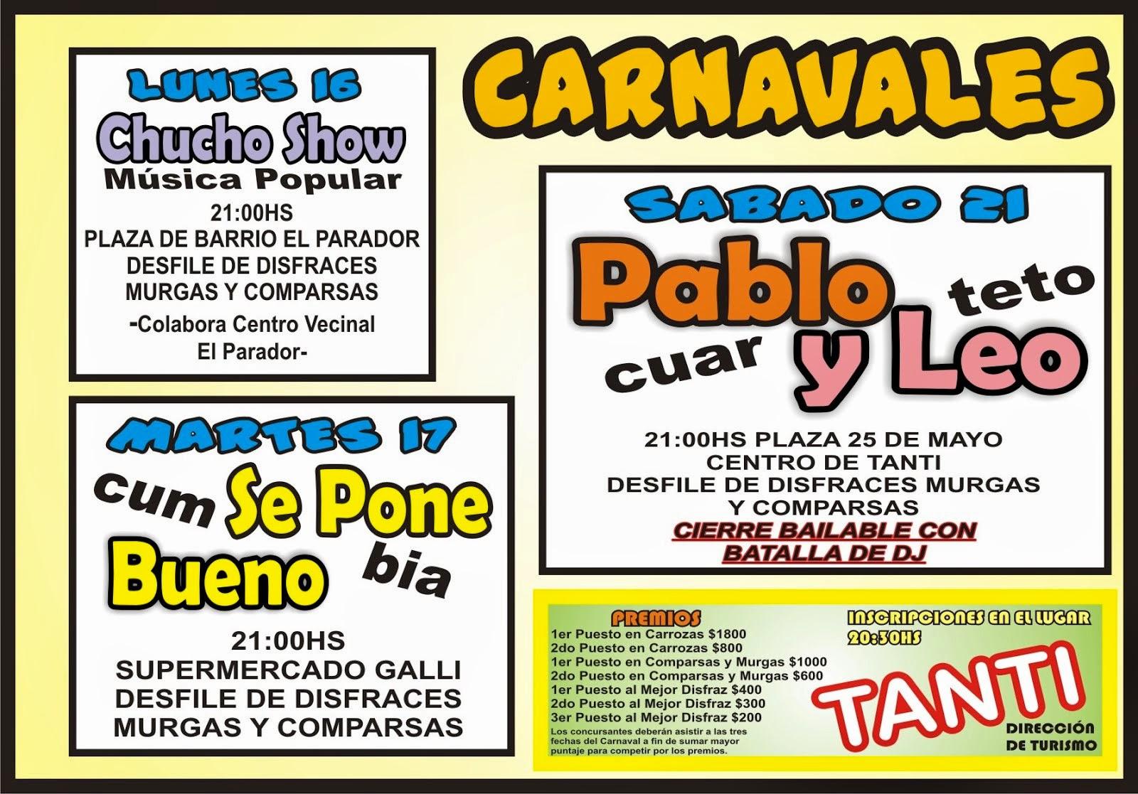 Carnavales en Tanti 2015