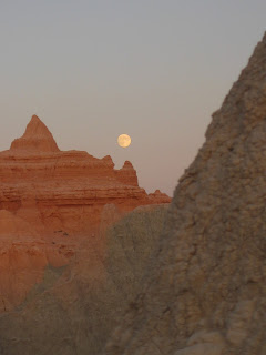 moon over Badlands