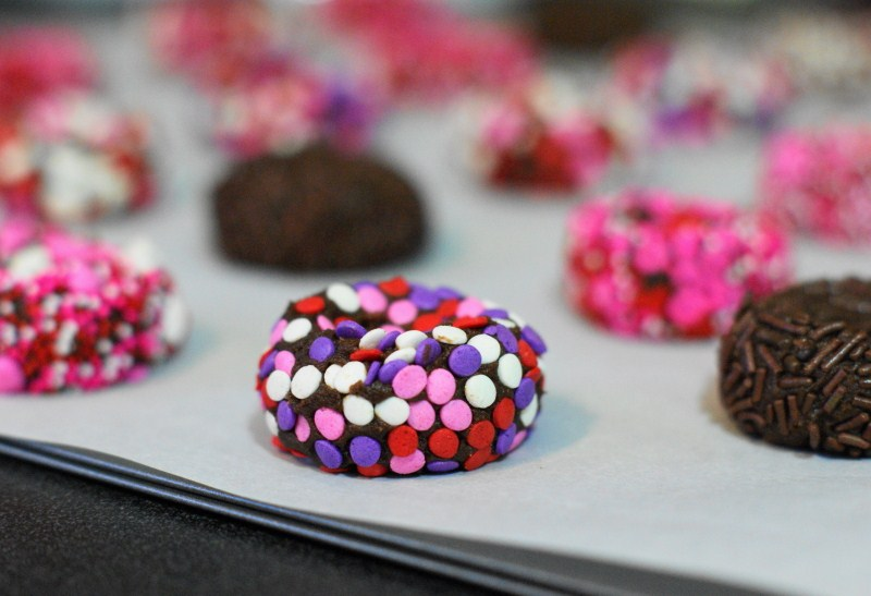 Chocolate Valentine Kiss Cookies - The Kitchen is My Playground