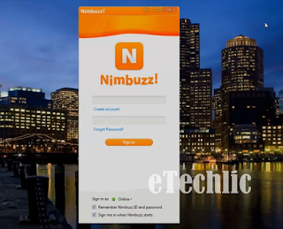 nimbuzz starting window