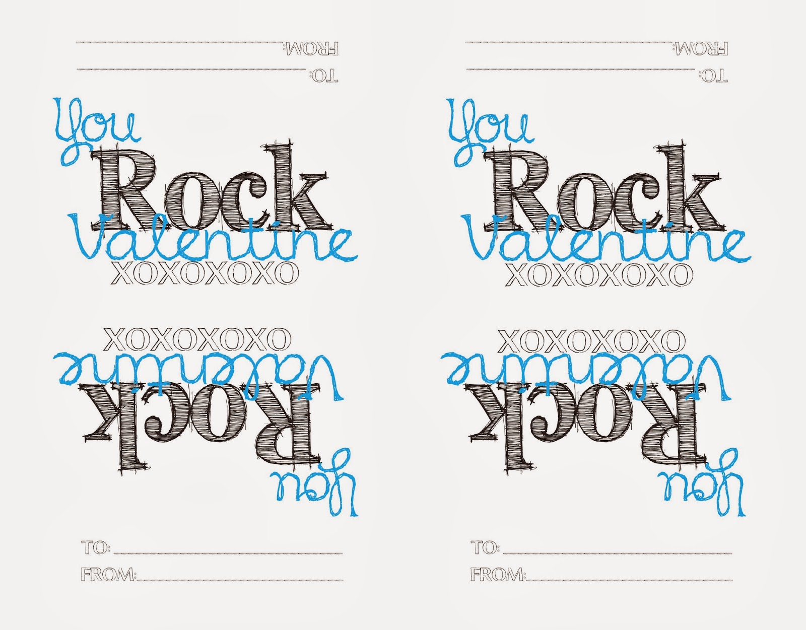 image relating to You Rock Valentine Printable identified as Up-Cycled Printable Treasures: Printable Valentine - POP Rocks