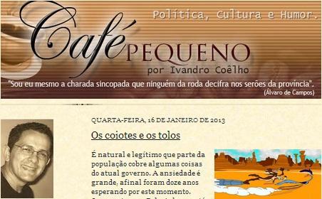 Chapadinha-MA: Café Pequeno (Ivandro Coêlho)