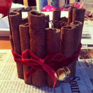 DIY, Candelabro de Navidad con Canela