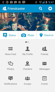 Friendcaster - Aplikasi Facebook Android terbaik