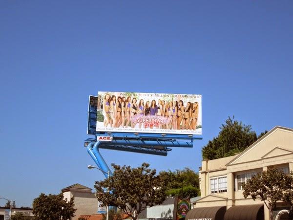 Model Turned Superstar Mexico billboard