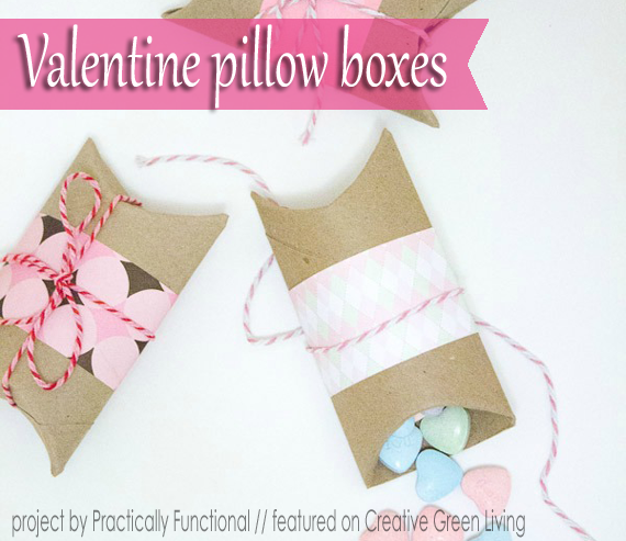 Make DIY Pillow Boxes for Valentines Day GiftsCreative Green