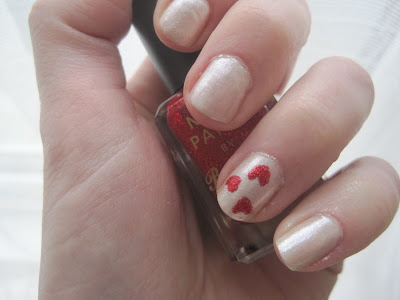 barry m hearts nail art
