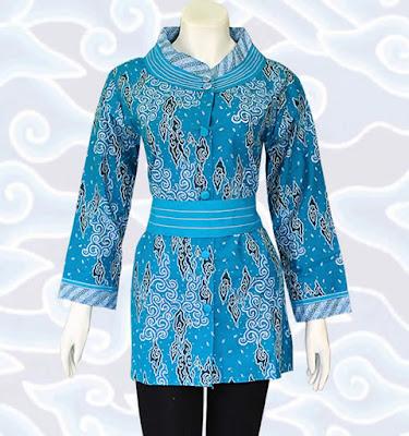 Atasan Batik Etnik Model Blus