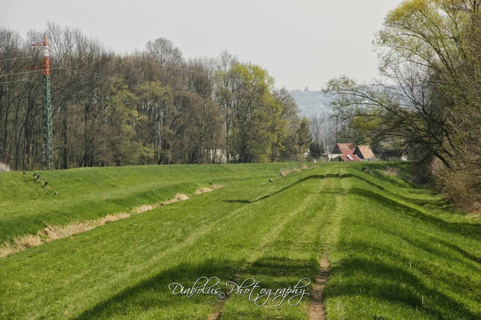 Pohled na zahrádkářskou osadu Baráky od Moravy