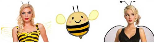 Disfraz de abeja para Carnaval collage